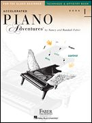 """Accelerated Piano Adventures for the Older Beginner Technique & Artistry, Book 1 Designed for the teenager or transfer student, this course combines """"Technique Secrets"""" from the Primer and Level 1 with new exercises that correlate with Lesson Book One.  """"Technique Secrets"""" develops a technical foundation, while the """"Artistry Magic"""" page at the end of each unit explores expressive playing. $6.95 #00420250"""