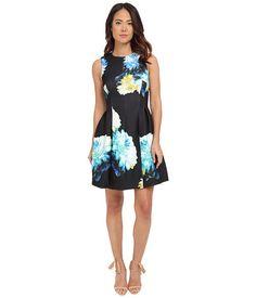 Calvin Klein Sleeveless Printed Fit & Flare Dress CD5M3R8Y