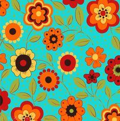 5474eeeef1 Tecido Tricoline Estampa Floral c/ Poá (Fundo Azul) - Coleção Alegria -  Preço de 50 cm X 150 cm