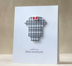 Cute welcome baby boy card:)