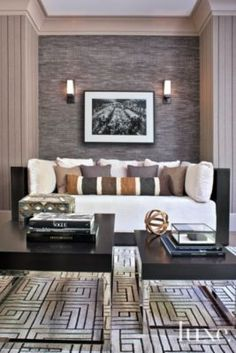 A contemporary home's #neutral #office | See MORE at www.luxesource.com | #luxemag #interiordesign #design #interiors #homedecor #homeoffice