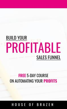 Want to make passive income from your blog & social media? This FREE 5 day course will show you how you can make money while you sleep and how to market your sales funnel. Click through to enroll and start building your funnel today! #aff