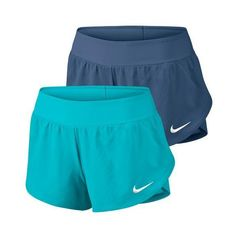 Dynamic play is possible in bright new colors with the Nike Women's Ace Tennis Shorts. The mesh waistband provides breathability and comfort. 2-way spandex undershorts enhance range of motion without sacrificing coverage. Dri-FIT technology provides sweat management so you stay cool and dry on the court. The exclusive, recognizable Nike swoosh appears in White on the hem above the left knee. Look for Victoria Azarenka to rock these shorts on the court this summer!