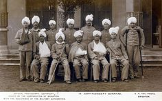 Gurkha soldiers, Brighton Pavilion. During the First World War, millions of wounded soldiers had to be accommodated in the UK; Brighton Pavilion was used for Indian troops from 1914 to 1916, and later for British wounded (Indian troops had moved to the Middle East after 1916).