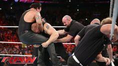 Brock Lesnar confronts The Undertaker: Raw, July 20, 2015 https://www.youtube.com/watch?v=eivGJZGs2jo