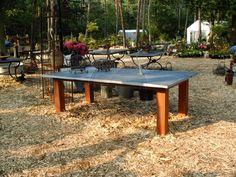Slate Gartentisch mit Holzbein - Gartentische 935€