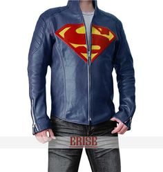 Bad ass! Hubs motorcycle present Superman Man of Steel Synthetic Leather by Celebsleatherjacket, $139.99