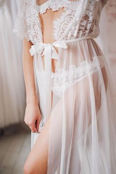 Wedding Gown Bridal Dress Sexy Lingerie Boudoir Dress See Through Lingerie Lace Nightgown White Camisole Women Camisole Bridesmaid Lingerie Design, Sexy Lingerie, White Lingerie, Wedding Lingerie, Lingerie Models, Lingerie Gown, Wedding Underwear, Bridal Dresses, Flower Girl Dresses