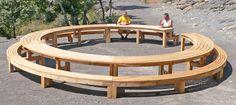 mobilier urbain bois massif banc table de pique-nique,poubelle pour parcs et jardins publics et privés