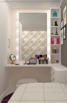 58 New Ideas Bedroom Desk Closet Drawers Bedroom Seating, Bedroom Desk, Bedroom Storage, Diy Bedroom, Diy Storage, Storage Shelves, Storage Ideas, Desk Shelves, Small Shelves