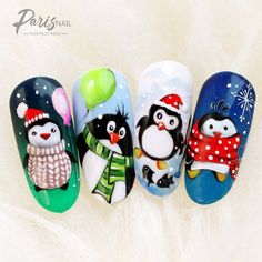 Nageldesign Winter The trendy patterns for the winter - Hair Beauty - Food and Drink - Christmas - DIY and Crafts - Home Decor Nail Art Noel, Xmas Nail Art, Cute Christmas Nails, Xmas Nails, Christmas Nail Art Designs, Winter Nail Art, Winter Nail Designs, Simple Nail Designs, Gel Nail Art