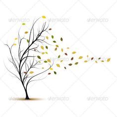 draw leaves blowing - Google Search