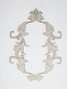 Dusty Attic Chipboard Ornate Frame 2 DA0075 Scrapbooking Craft Embellishment