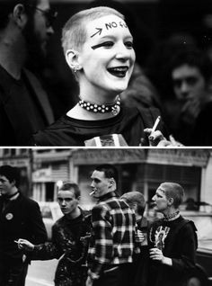 Punks at the queue of a gigat the Rainbow Theatre, London 1977