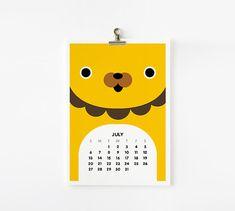 2014 Calendar Cute Animal 5x7 by loopzart on Etsy, $25.00