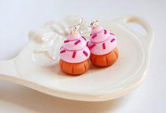 Orecchini Cupcake in fimo (rosa)