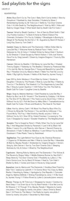 I'm Libra and it's hilarious because half of those are my all time favorite songs