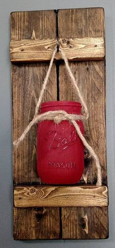 Hey, I found this really awesome Etsy listing at https://www.etsy.com/listing/534425056/barn-red-mason-jar-rustic-wall-sconce