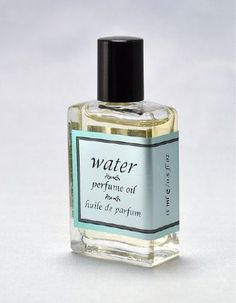 WATER PERFUME OIL - 15 ml/0.5 oz - Editor's choice in DailyCandy.com's Weekend Guide. $25.00, via Etsy.