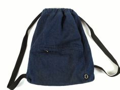 Denim Rucksack Backpack Small Rucksack Small Bacpack by Tukvintage