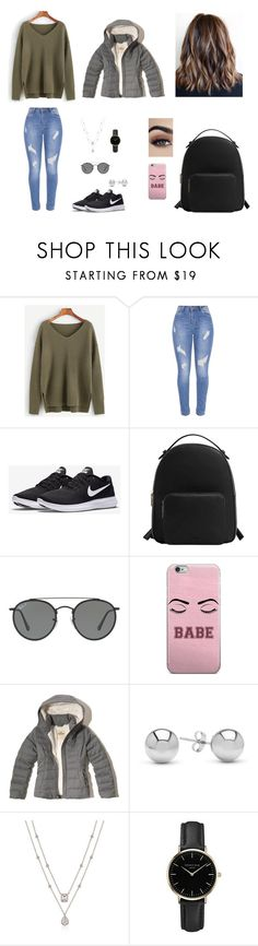 """""""Untitled #56"""" by martaalmeida-i on Polyvore featuring NIKE, MANGO, Ray-Ban, Hollister Co., Jewelonfire and ROSEFIELD"""