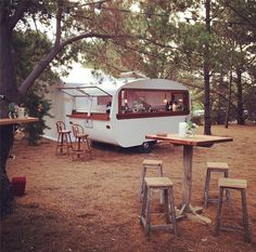 This would be amazing for parties! Tom Collins Caravan Bar - Wedding inspo for a festival or garden wedding. Cocktail bar.