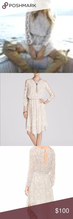 Free People Charlotte Midi Dress Alabaster Soft feminine and comfortable very delicate and sweet look, cool for the summer. Has been worn but there are no snags stains or issues at all. Free People Dresses Midi
