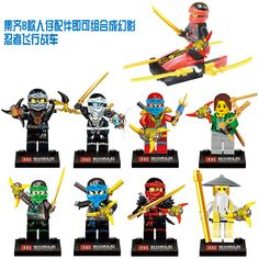 8Pcs/S Compatible Legoings Ninjagoes With Weapon Ninja Kai Cole Jay Zane Lloyd Nya Building Blocks Kids Toys Gifts for children