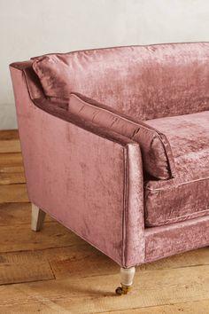 Slide View: 4: Slub Velvet Leonelle Sofa