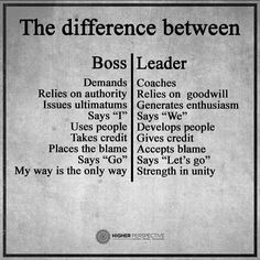 Are you a boss or a leader? Do you have a boss or a leader?