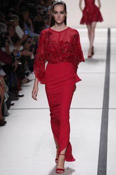 Lady in red by Elie Saab #PFW