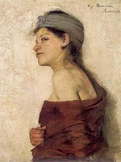 "OLGA BOZNAŃSKA - ""Portret kobiety-Cyganka""-1888"