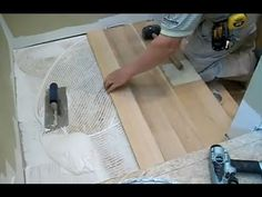 ▶ How to Install Hardwood Stairs: Stair Landing Installation - YouTube