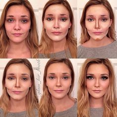 Our top picks for the best foundation tutorials with step by step guides to flawless natural looking skin. Video tutorials for acne and oily skin care. Le Contouring, Step By Step Contouring, Contouring And Highlighting, Contouring Tutorial, Contour Makeup, Foundation Application, How To Apply Foundation, Perfect Foundation, Beauty Hacks