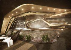 #Hotel #futurista contará con centros comerciales, teatros, restaurantes, cine y gimnasio en los #Alpes. #Hogaressauce.