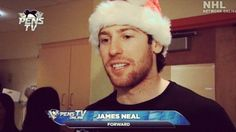 Only James Neal could look this good as Santa