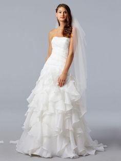 wedding dress satin tiers - Google Search