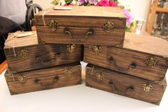 Set of ( 5 ) - Groomsmen Gift Box - Bridesmaids Gift Boxes - Maid of Honor Gift Box - Best Man Gift Box - Rustic Wedding Boxes by SimplyWeddingDecor on Etsy https://www.etsy.com/listing/230659536/set-of-5-groomsmen-gift-box-bridesmaids