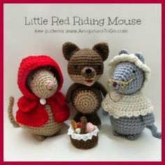 little red riding mouse crochet pattern