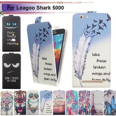 Fashion 11 Colors Cartoon Pattern Up and Down Flip PU Leather Case For Leagoo Shark 5000