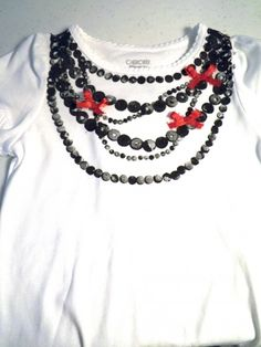 DIY necklace t-shirt and tie t-shirt