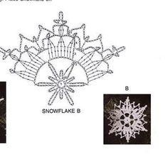 Crochet Snowflake Pattern, Christmas Crochet Patterns, Crochet Snowflakes, Holiday Crochet, Christmas Snowflakes, Crochet Diagram, Crochet Motif, Irish Crochet, Crochet Doilies