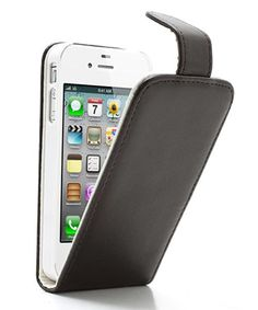 iPhone 4 4S Wallet Case Bruin Wit