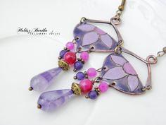 Oooak pair of enamelled earrings with gemstones http://www.facebook.com/nevtablashop