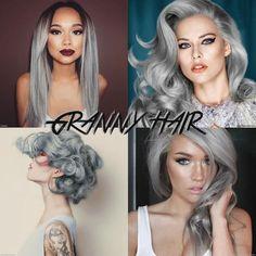Teñirse el pelo de color gris o tonalidades plateadas. En ocasiones con rayitos o mechones de color azul, violetas o rosadas, tomarse una selfie y colgarla en la redes sociales usando #GrannyHair es lo último que vemos entre jovencitas, actrices y cantantes. ¿Qué te parece esta nueva moda?