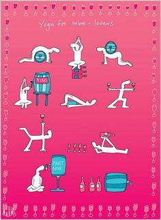 Yoga for wine-lovers.my life is a constant battle between wanting to drink wine and wanting to go to yoga. Yoga Inspiration, Yoga Jokes, Yoga Humor, Wine Lovers, Saumur, Bikram Yoga, In Vino Veritas, Yoga Lifestyle, Yoga Meditation