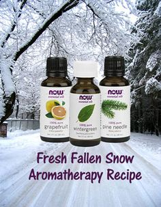 Fresh Fallen Snow Aromatherapy Recipe - Grapefruit, Wintergreen, Pine Needle - Essential Oil Recipe