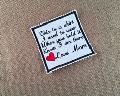 Zig Zag Edge Memory Pillow Patch - Memory Patch, SEW ON  Memory Patch,  2 Sizes, This is a shirt I used to wear, In Memory, Memorial Patch by VictoriaLynnBoutique on Etsy