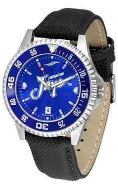 Creighton University Bluejays Competitor Anochrome- Poly/leather Band W/ Colored Bezel - Men's - Men's College Watches by Sports Memorabilia. $78.73. Makes a Great Gift!. Creighton University Bluejays Competitor Anochrome- Poly/leather Band W/ Colored Bezel - Men's