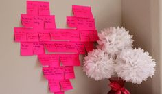 Post-it Notes - Post notes all around the house and tell your hubby/wife how much you love them. Post them in fun places like their sock drawer, on the carton of milk, in their car. The notes will surprise and delight them each time.